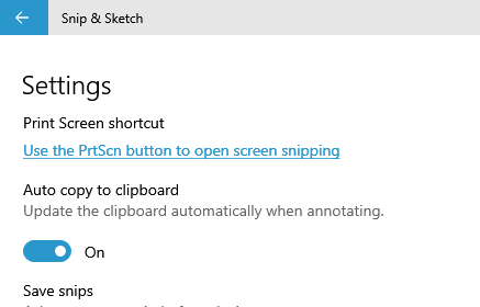 Use Print Screen Button for Windows 10 Snip and Sketch
