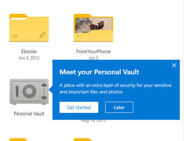 OneDrive adds Personal Vault option for sensitive files and photos